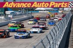Race 1 Start Sebring International GT 2019
